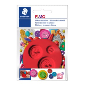 "FIMO® Silicone Push Mould ""Buttons"""