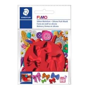 "FIMO® Silicone Push Mould ""Bows"""