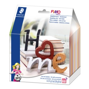 "FIMO® soft DIY Home deco set ""Letters"""