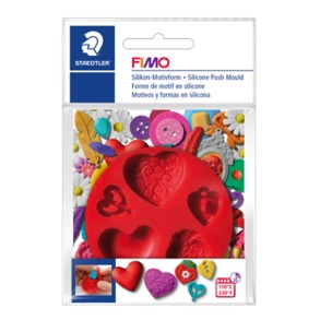"FIMO® Silicone Push Mould ""Hearts"""