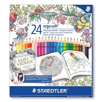 STAEDTLER ergosoft: Coloured pencil in ergonomic triangular shape