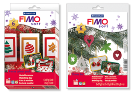 FIMO soft Christmas material pack and Christmas Red Deco Set