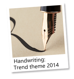 Handwriting: Trend theme 2014
