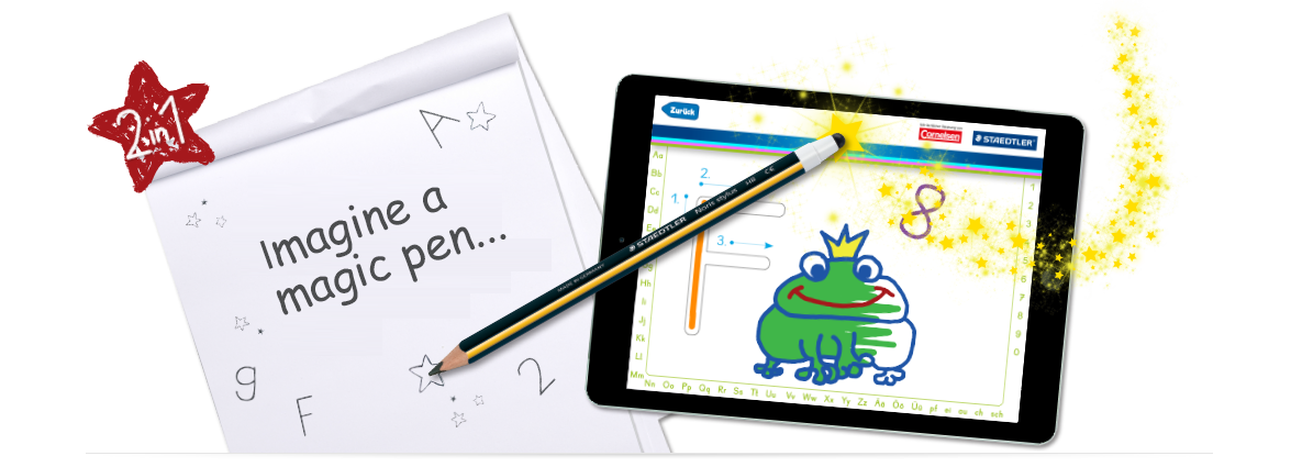 Noris stylus learner's pencil with free learning apps